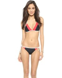 Kate Spade Parrot Cay Bikini Top - Black - Lyst