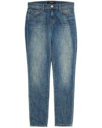 J Brand Crop Ellis Boyfriend Jeans blue - Lyst