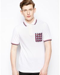 Fred Perry Drakes Heritage Polo Shirt with Contrast Pocket - Lyst