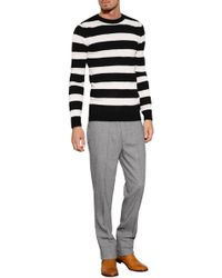 Ermanno Scervino Wool-Alpaca Striped Pullover - Lyst