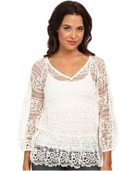 Free People Saturdays Lace Top - Lyst