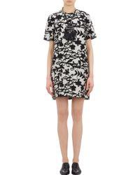 Lanvin Floral Jacquard Dress - Lyst
