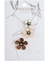 TOPSHOP - Fabric Flower Brooches - Lyst