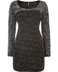 Izabel London Contrast Knitted Bodycon Dress - Lyst