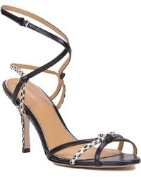 Badgley Mischka Kendal-Ii Strappy Leather Sandal - Lyst