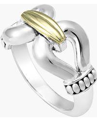 Lagos 'Derby' Buckle Ring silver - Lyst