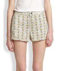 Rag & Bone Printed Shorts - Lyst