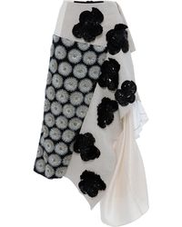 Marni Cotton Linen Canvas with Metallic Floral Embellishment - Lyst