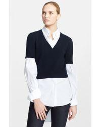 Alexander McQueen Layered Sweater & Shirt - Lyst