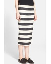 A.L.C. 'Guy' Stripe Midi Pencil Skirt - Lyst