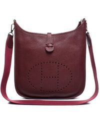 Hermès Pre-Owned Marsala Clemence Evelyne Ii Pm Bag - Lyst