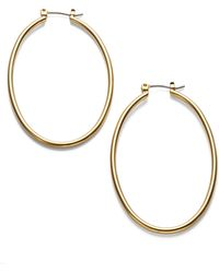 Lauren by Ralph Lauren - Oval Drop Hoop Earrings - 1.25 In. - Lyst