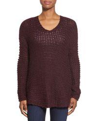 Dex - Oversize V-neck Sweater - Lyst