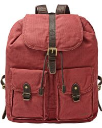 Fossil - Estate Casual Cotton Canvas Rucksack - Lyst