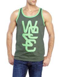 Wesc Overlay Classic Tank green - Lyst