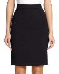Akris Punto Cotton Techno Pencil Skirt - Lyst