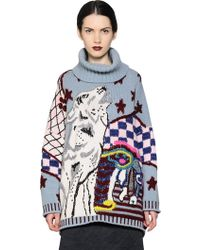 Antonio Marras Oversized Wool Turtleneck Sweater - Lyst