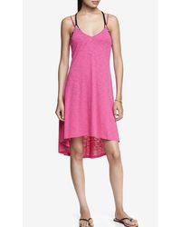 Express Magenta Slub Knit Trapeze Cover-up - Lyst