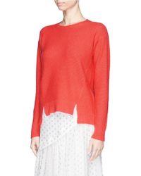 Stella McCartney Open Back Cashmere-Silk Sweater - Lyst