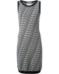 Moschino Logo Knit Dress - Lyst