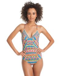 Trina Turk Peruvian Stripe One Piece multicolor - Lyst