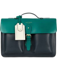 Ted Baker - Mixed Leather Satchel - Lyst