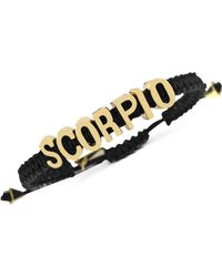 BCBGeneration - Goldtone Black Scorpio Affirmation Friendship Bracelet - Lyst