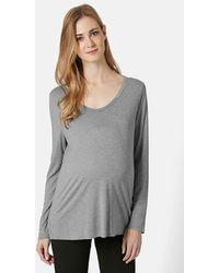 Topshop Long Sleeve U-Neck Maternity Top - Lyst