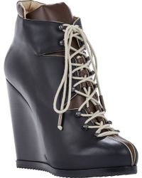 Pierre Hardy Colorblock Wedgeheel Hiking Boots - Lyst