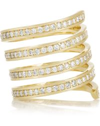 Lynn Ban - 14-Karat Gold Diamond Ring - Lyst