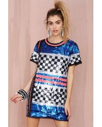 Nasty Gal Space Oddity Sequin Dress - Lyst