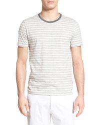 BOSS | 'tessler' Stripe Crewneck T-shirt | Lyst