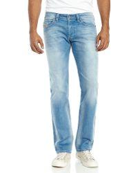 Diesel Light Wash Safado Slim Straight Jeans - Lyst