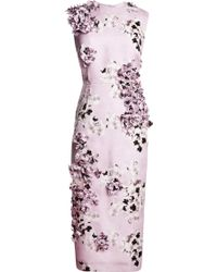 Giambattista Valli Embellished Floralprint Silk Dress - Lyst