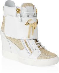 Giuseppe Zanotti Millie High Top Sneakers - Lyst