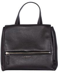 "Givenchy   Black Hammered Leather Medium ""pandora Pure"" Bag   Lyst"