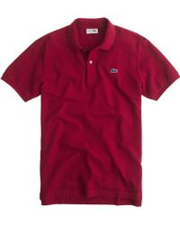 Lacoste Polo Shirt red - Lyst