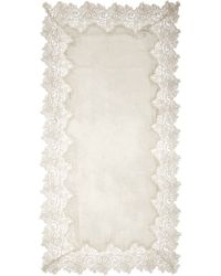 Faliero Sarti 'Angelina' Lace Border Silk-Cotton Scarf - Lyst