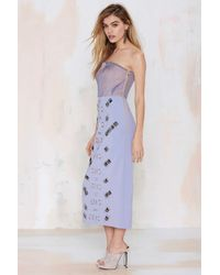 Nasty Gal Three Floor You Crazy Diamond Strapless Dress purple - Lyst