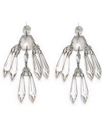 Zara Long Glass Earrings - Lyst