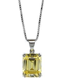 Carat* | Yellow Emerald 1.5ct Solitaire Pendant Necklace | Lyst