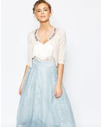 Coast - Chrissie Embellished Cover Up In Blush - Lyst