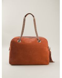 Gucci Brown Soho Tote - Lyst