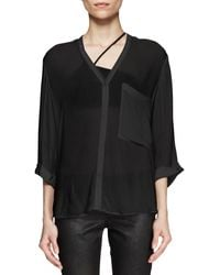 Helmut Lang Lush Twist Back Shirt - Lyst