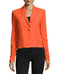 Versace | One-Button Stretch-Jersey Jacket | Lyst