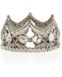 Armenta - New World Sapphire & Diamond Crown Ring - Lyst