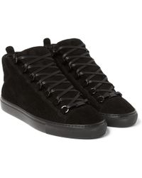 Balenciaga Arena Suede High Top Sneakers - Lyst