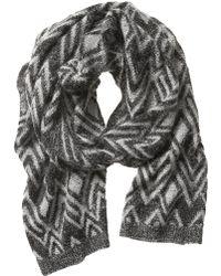 Banana Republic Diamond Knit Scarf - Lyst