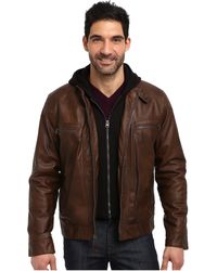 Calvin Klein jackets leather jackets - Lyst