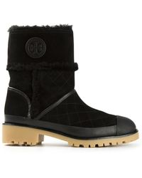 Tory Burch Quilted Boots - Lyst